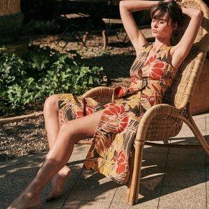 Sezane Sleeveless Midi Linen Dress NWT